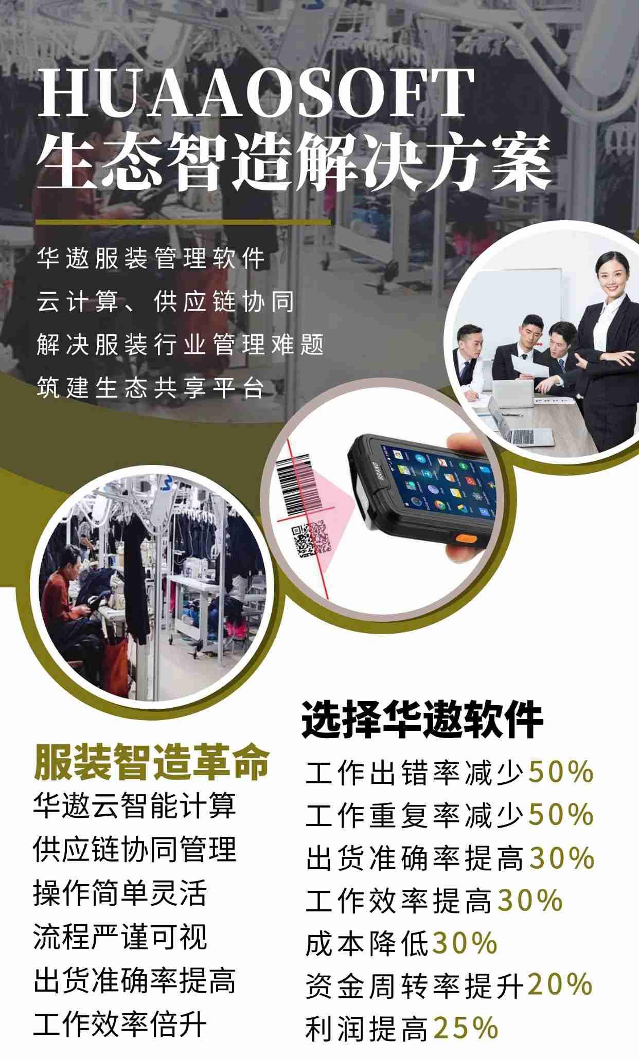 华遨服装管理软件生态服装智能制造
